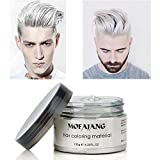 White Hairstyle Cream Instant Hair Wax Professional Hair Pomades Long-lasting Natural White Matte Hairstyle Wax 4.23 oz for Men and Women for Party Cosplay Masquerad, Halloween