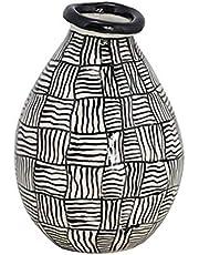 TIC Collection Accra Vase, White/Black