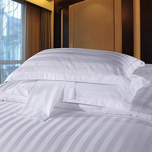 D&L Hotel Pillowcases, Cotton Twill Pillow Covers Single Cover-A 55x85cm(22x33inch)