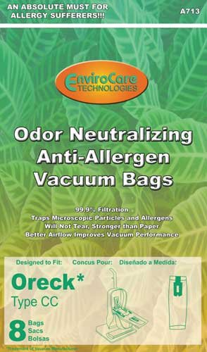 Oreck Odor Fighting Anti-Allergen Vacuum Bags, 8 Bags Per Package, Appliances for Home
