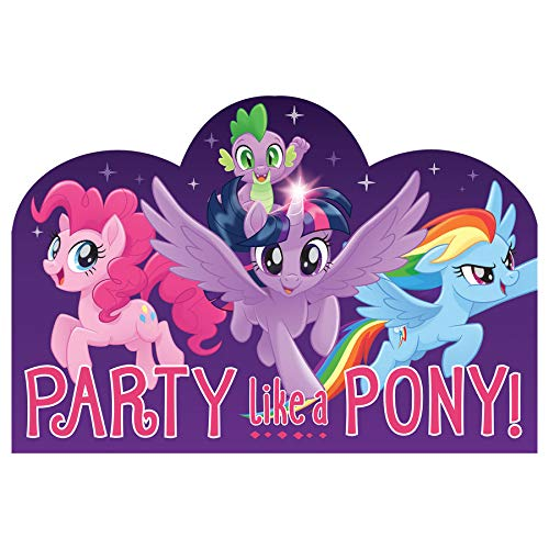 (Amscan My Little Pony Friendship Adventures Postcard Invitations (8))
