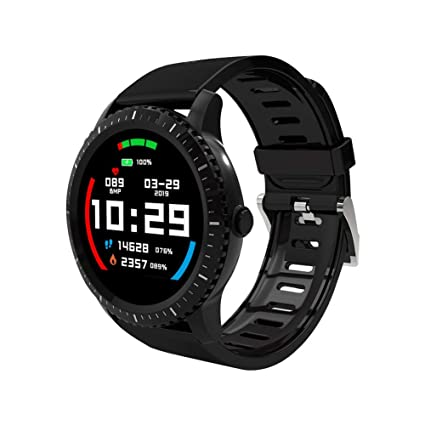 Smart Watch for Android iOS Phone Waterproof Sport Fitness Tracker Wrist Watch with Heart Rate Sleep Monitor Step Counter Ultra-Long Batter Life ...