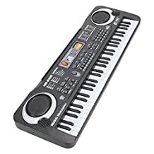 Domybest 61 Keys Portable Electronic Keyboard Piano for Kids with Microphone and Power Cord