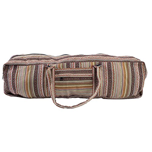 Lakhays Eco Duffle Cotton Yoga Mat Bag with Pockets