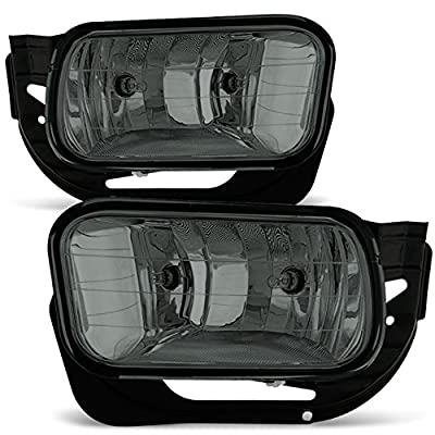 For Smoked 09-12 Dodge RAM 1500/10-18 2500 3500 Bumper Fog Lights Pair w/Bulbs, Bracket Replacement: Automotive