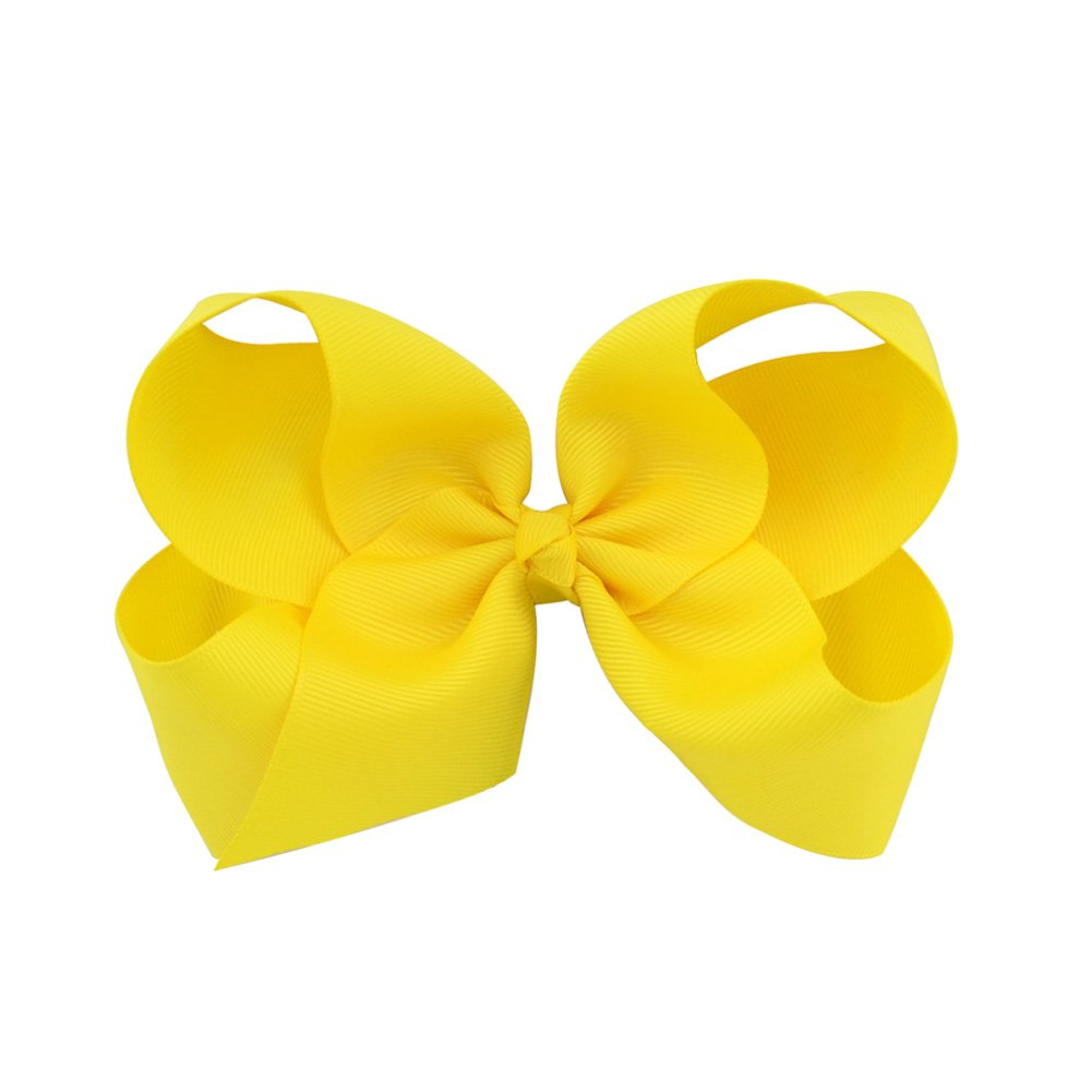 6 Inch Large Baby Hair Bows Barrettes Clip Holders Accessories For Toddler Girls 15 pcs by YHXX YLEN (Image #8)