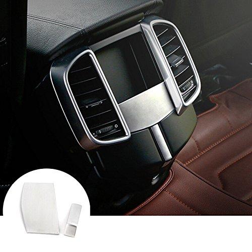 CROTRIM Silver Inner Rear Air Vent Outlet Trim Cover 2pcs for Porsche Cayenne 2011-2016
