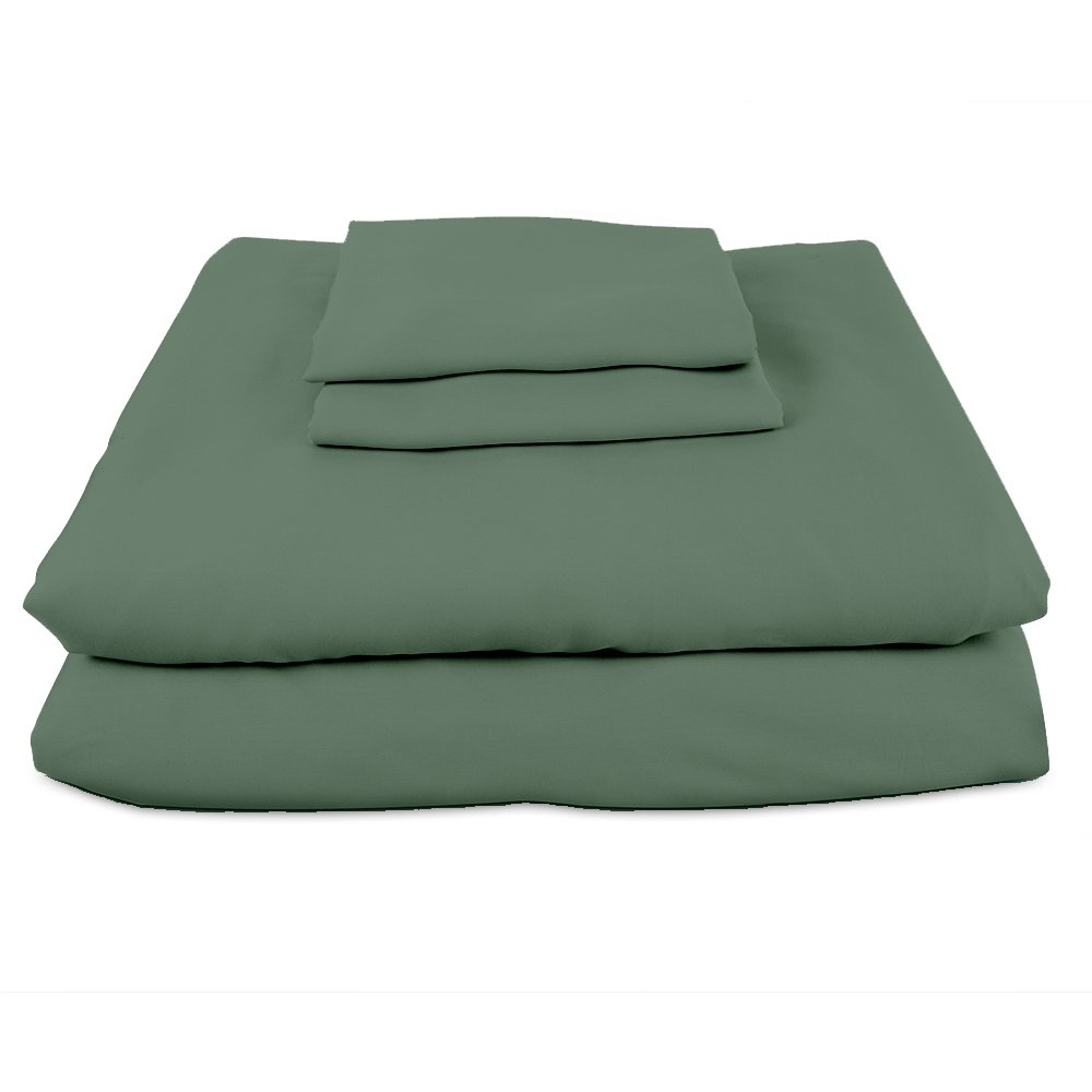 Bamboo Sheets INTERNATIONAL Premium 100% viscose bamboo sheet set in King Sage Green. BSI-K-SG. luxury bamboo bed sheets with deep pocket design are the perfect pillow top mattress sheets.