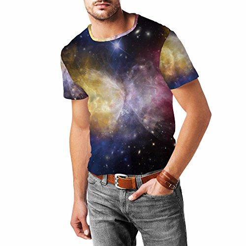 Galaxies Meeting Mens Cotton Blend T-Shirt Herren
