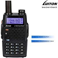 Walkie Talkies 7 Watts Dual Band Rechargeable Two Way Radio LT-8W High Power Portable 2 Way Radio with Free Programming Cable By Luiton