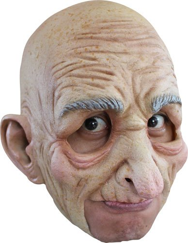 Creepy Old Man Grandpa Halloween Mask (Latex Mask Old Man)