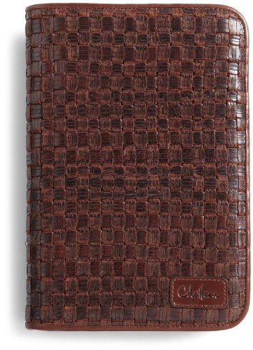 Price comparison product image Cole Haan Hand-Woven Leather Kindle Cover with Hinge (Whiskey)