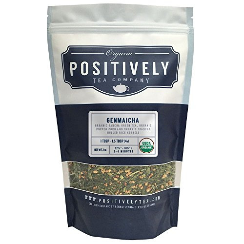 Positively Tea Company, Organic Genmaicha, Green Tea, Loose Leaf, USDA Organic, 1 Pound Bag