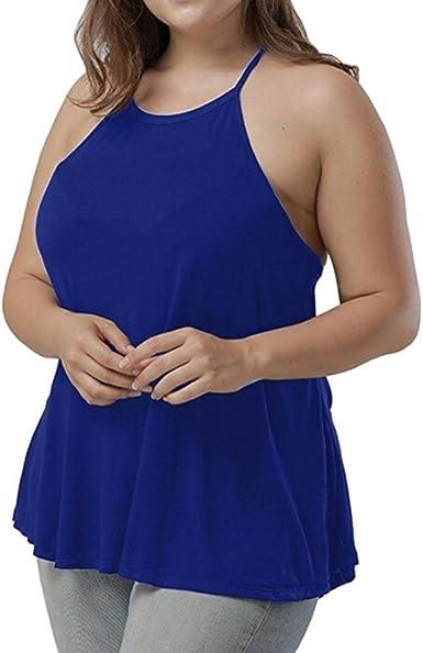 FAMILIZO Camisetas Sin Mangas Mujer Tallas Grandes XL~4XL Camisetas Mujer Verano Blusa Mujer Sport Tops Mujer Verano Camisetas Mujer Fiesta Elegante Tank Tops: Amazon.es: Ropa y accesorios
