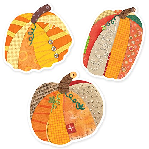 Creative Teaching Press 6-Inch Designer Cut-Outs, Pumpkins (3887) (Pumpkin Cut Outs Halloween)