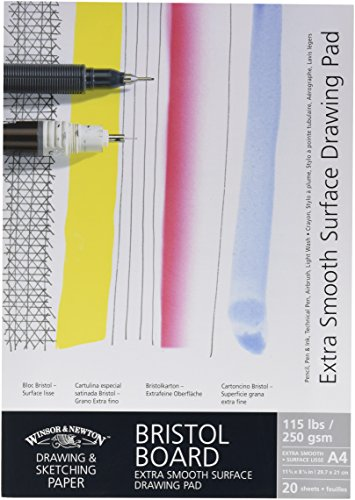 Winsor & Newton Extra Smooth Bristol Board Gummed A4 Pad (Drawing Bristol Board White)