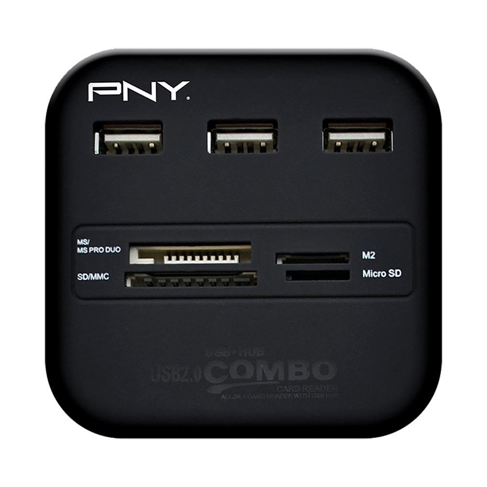 PNY Multi-Slot USB & Flash Card Reader (P-UBSDRDR21K-RF)