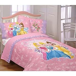 Amazon com: Disney Princess Cotton Rich Full Comforter