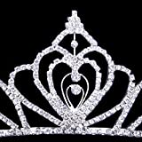 ROFIFY Jewelry Rhinestone Wedding Prom Bridal Crown Crystal Decor Headband Comb Tiara FJ021