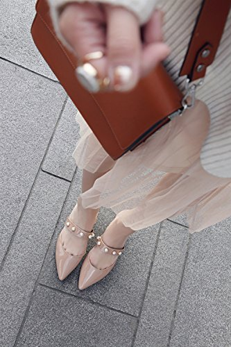 Pointed Office Flip Career Shoes amp; Shoes Summer Career Party Evening amp; Shoes out Comfort A Walking PU XUE Dress Sparkling amp; Breathable Women's Slippers Glitter Flops Sandals amp; Fashion Dress Hollow fRwq6U