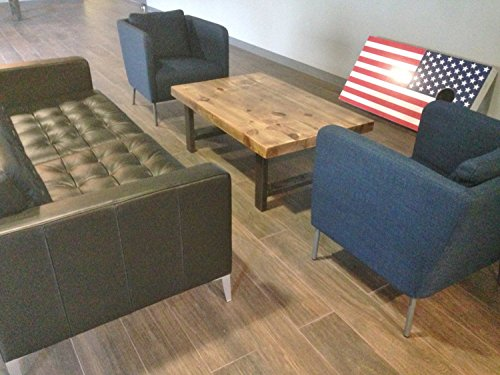 Round Barn Wood Coffee Table with