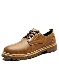 Men's Classic Dress Oxfords Casual PU Leather Lace Up Low Top Shoes