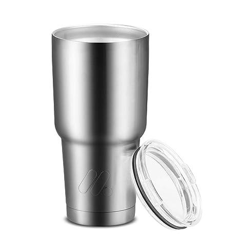 Amazon.com: MEKKOU - Vaso de acero inoxidable con ...