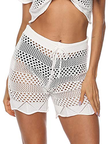 Bathing Suits Lace - Womens Summer Beach Pants Casual Hot Bikini Bathing Suit Lace Crochet Shorts Cover Up