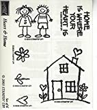 Stampin' Up! Heart & Home Stamp Set 2003 Retired Out of Production Wood Mounted Rubber Stamps