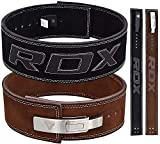 RDX Powerlifting Belt Lever Buckle Cow Hide Leather 10mm Single Prong Weight Lifting Workout Gym Fitness Exercise Bodybuilding