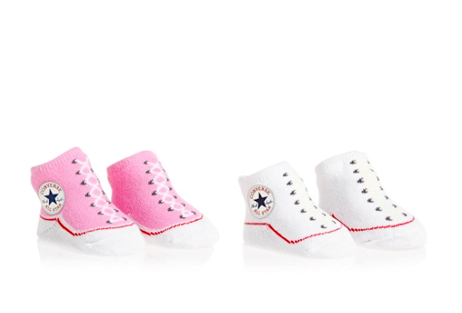Converse Infant Pink & White Knitted Booties