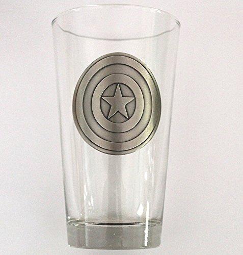 Captain America Shield Medallion Pint - Medallion Imports