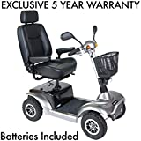 "Prowler Heavy Duty Scooter by Drive Medical Including Exclusive 5 Year Protection Plan (4-Wheel 22"" Captains Seat)"