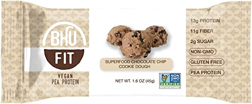 Vegan Protein Superfood Chocolate Chip Cookie Dough 12 Bars