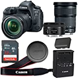 Canon EOS 6D Mark II 26.2 MP CMOS Digital SLR Camera with 3.0-Inch LCD with EF 24-105mm f/3.5-5.6 IS STM Lens and EF 50mm f/1.8 STM Lens - Wi-Fi Enabled (Certified Refurbished)