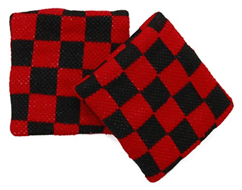Checkered Wristband Sweatband PAIR ()