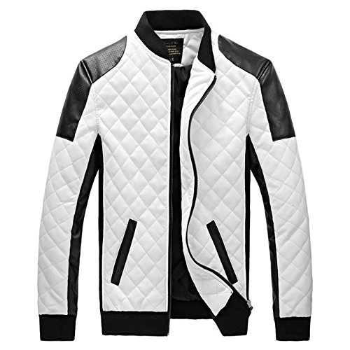 60ae0a08d9 World2home Man Leather Jackets Genuine Leather Jaquetas Masculinas Inverno  Couro Men Jaquetas Men s Winter Leather Jacket plus size  Amazon.in   Clothing   ...