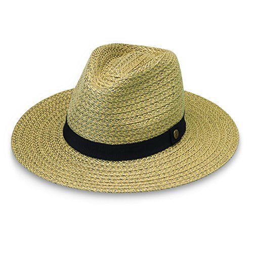 Wallaroo Hat Company Men's Palmer Fedora – Adjustable, Packable, Designed in Australia, Natural, Large/Extra Large ()