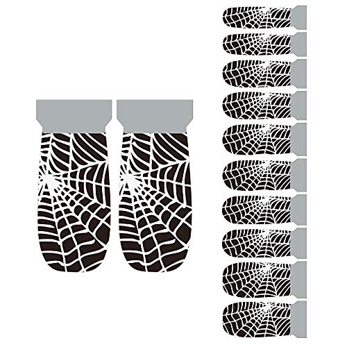 Winstonia Halloween Nail Wraps Stickers - Wild Wild Web -