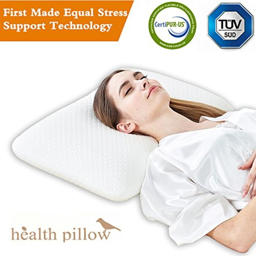 Contour Memory Foam Pillow Bed Pillows For Sleeping Dust Mite Resistant   Hypoallergenic  Queen