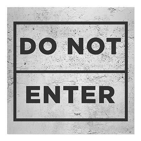 CGSignLab Do Not Enter 16x16 Basic Gray Window Cling 5-Pack