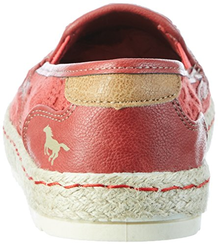 Rosso 5 Espadrillas Mustang 207 Donna Rot Basse 1245 qFZS81Ww6