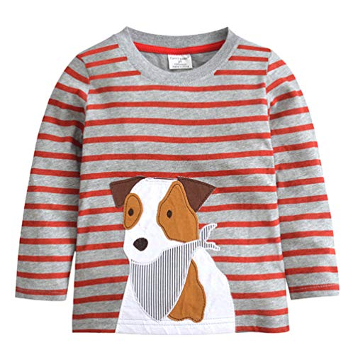 Long Sleeve Boys Christmas T-Shirts Gifts Sweatshirts Crewneck Cotton Cartoon Baby Tops Tees 2-7 Years Puppy 7T ()