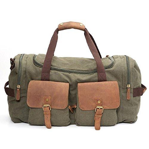 ZC&J Bolso de hombro general de los hombres y de las mujeres al aire libre de la lona, bolso multi-funcional del viaje del recorrido, bolso de hombro práctico del uso práctico de la capacidad grande d B