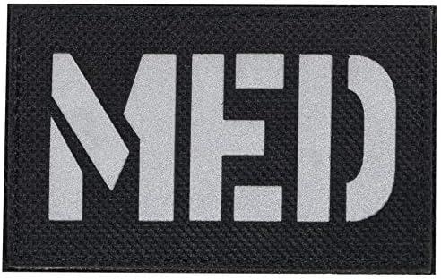 [ ワッペン屋Dongri ] ベルクロ ワッペン パッチ Medic MED ミリタリー サバゲー A0465 (ブラック)