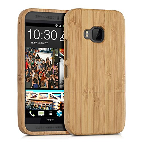 kwmobile Natural bamboo case for the HTC One M9 in brown