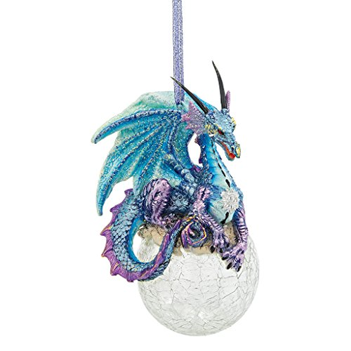 Dragon Christmas Ornaments (Christmas Tree Ornaments - Frost the Gothic Dragon Holiday Ornament - Snowflake Dragon Ball Ornament)