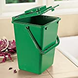 Large Kitchen Compost Bucket: 2.5 Gallon Compost Bin (Includes Filter)