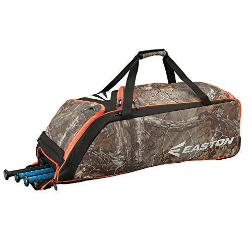 Easton E510W Bat & Equipment Wheeled Bag | Baseball Softball | 2018 | Camo | 4 Bat Compartment | Vented Pockets - Minimize Odor & Quick Dry | Removable Shoe Panel | Zippered Pockets | Fence Hook