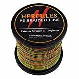 Cheap HERCULES 2000m 2187yds Multicolor 6lbs-100lbs Pe Braided Fishing Line 4 Strands (20lb/9.1kg 0.20mm)